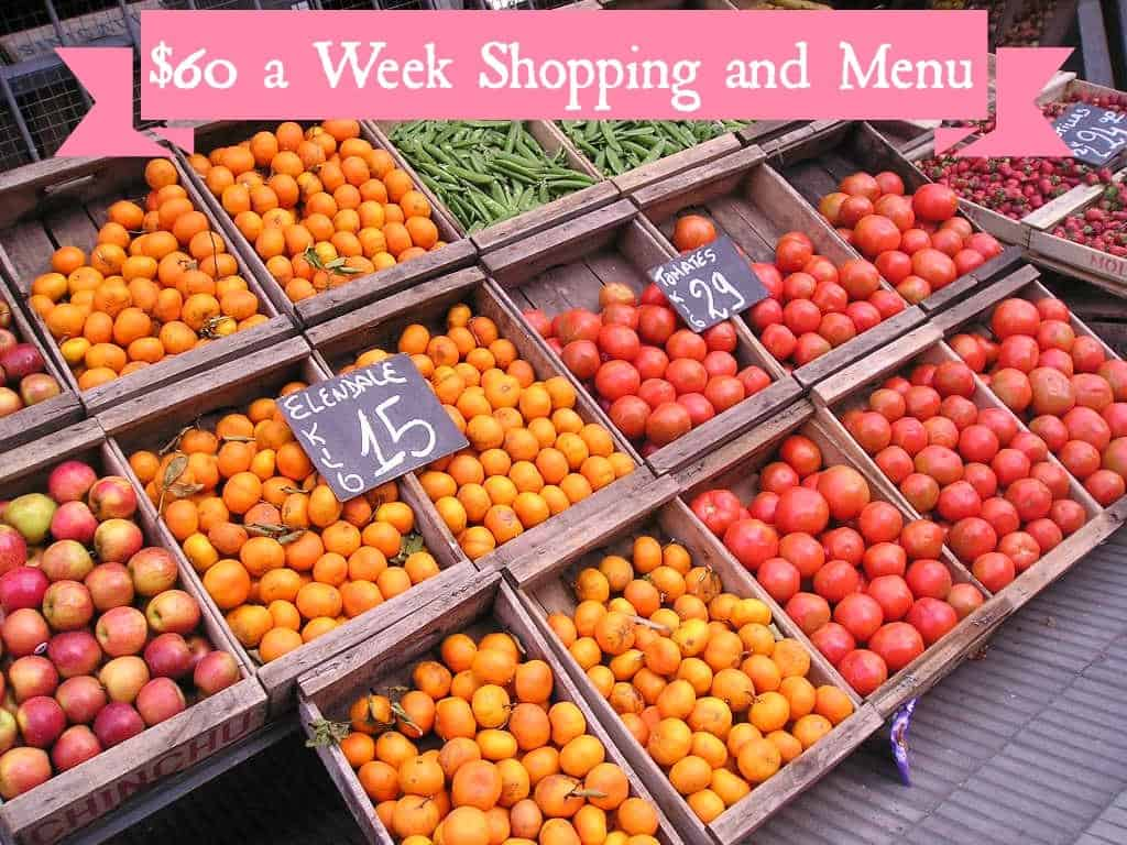 Weekly Shopping And Menu 8 2