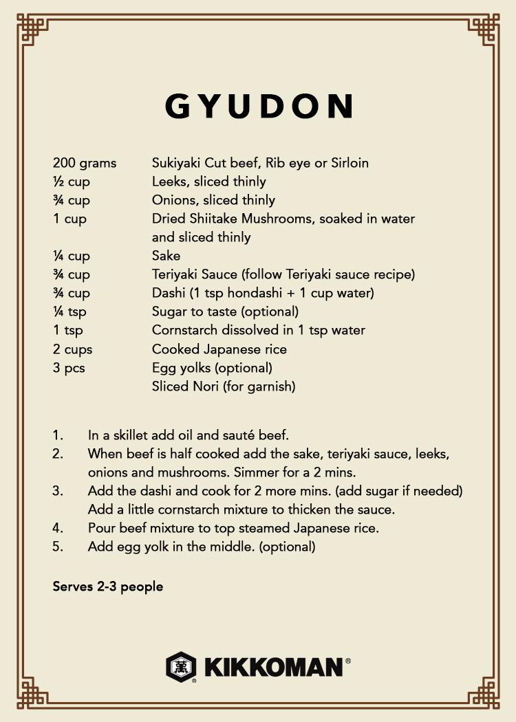 Kikkoman Gyudon