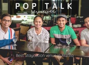 Inside Pop Talk TV Shoot in search for the best staycation venue in Manila