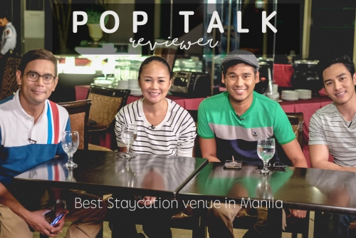 Inside Pop Talk TV Shoot in search for the best staycation venue in Manila