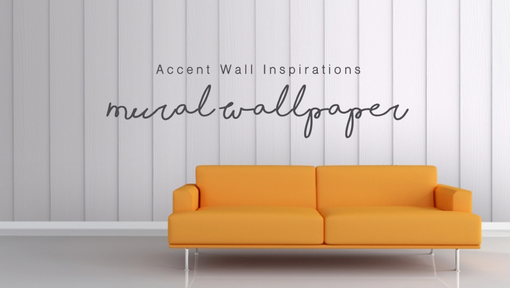 The perfect accent wall using Mural Wallpaper