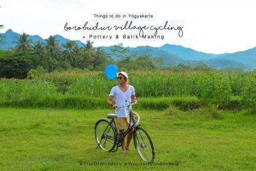 Borobudur Village Cycling Tour + Pottery and Batik Making