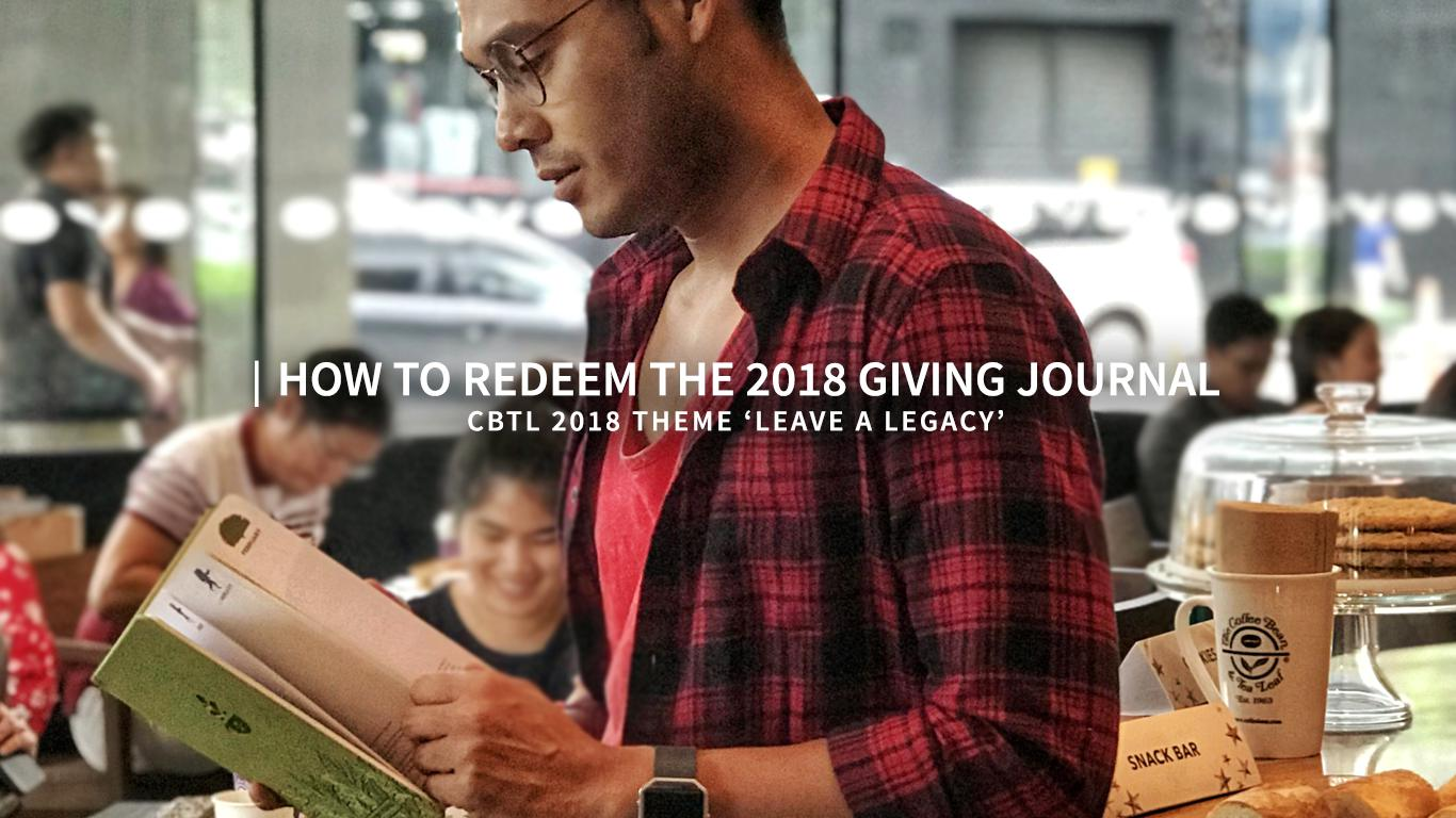 How to redeem the 2018 Giving Journal | Nognog