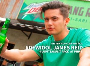 James Reid as the newest #DewIdol #MountainDew