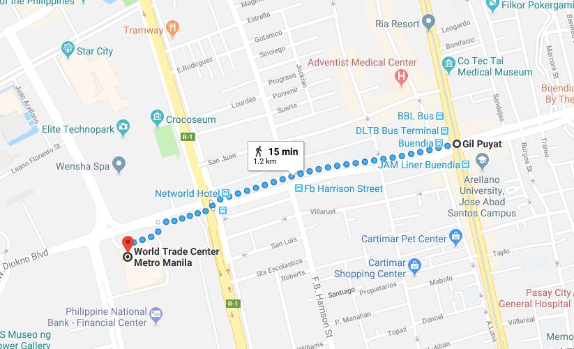 How to go to world trade center manila nognog in the city commute commute to world trade center map gumiabroncs Gallery