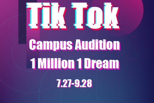 Win Php 20k worth of Scholarship grant from Tik Tok Campus Audition in Metro Manila