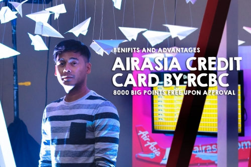 AirAsia Credit Card by RCBC gives 8000 Big Points ready for your free flights!