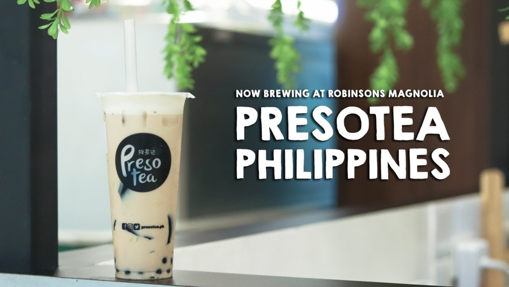 Now Brewing in Robinsons Magnolia: PRESOTEA Philippines