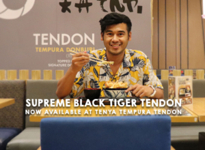 Spring into the Season with Tenya Tempura Tendon limited edition Supreme Black Tiger Tendon