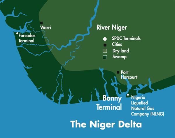 Image result for Shell's Bonny export terminal, Nigeria, photos