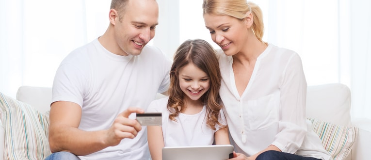 Parents Teaching Child About Internet