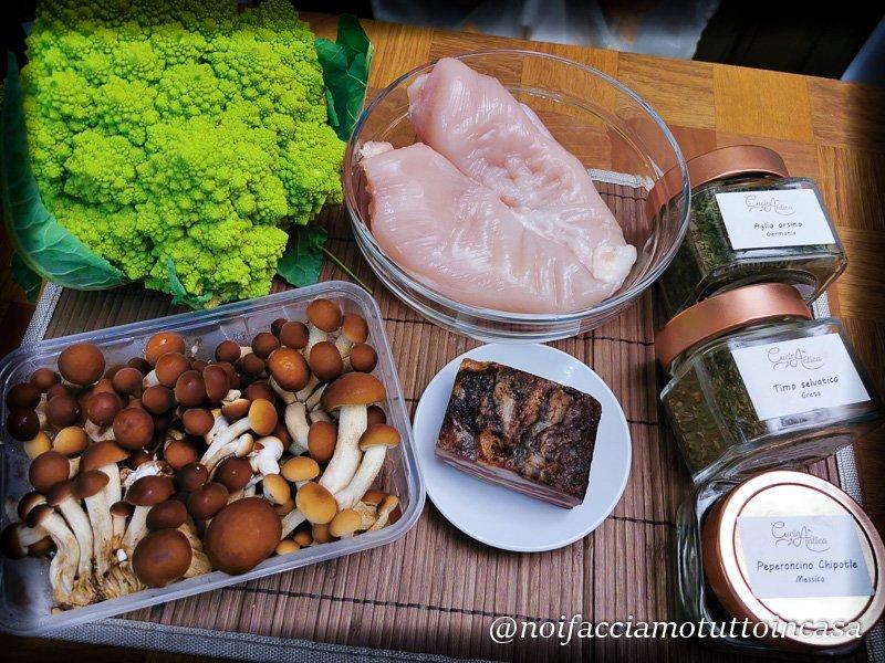 Petto-di-pollo-con-broccoli-e-funghi
