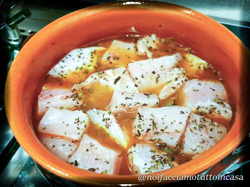 Scarola in guazzetto con pesce persico