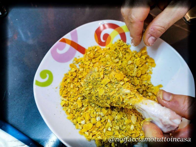 Cosce di pollo croccanti al forno