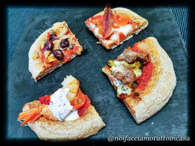 Pizza integrale ad alta idratazione