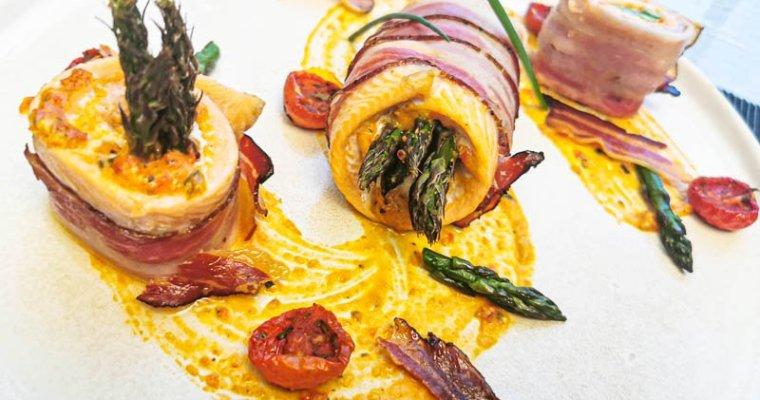 Involtini di Trota con Pesto di Pomodorini Confit