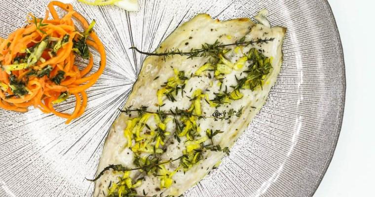 Filetti di Sgombro al forno con Timo e Limone