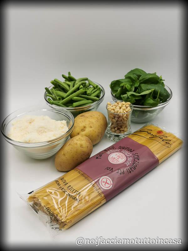 Linguine al pesto con fagiolini e patate Gluten Free