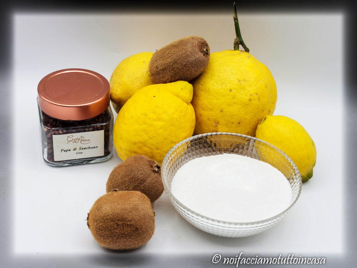 Confettura di Kiwi e Limoni Con pepe di Szechuan