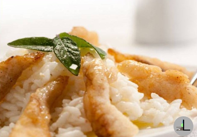 Risotto with the Perch Fish