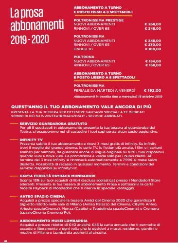 MANZONI 2019 2020