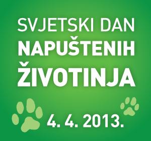 4. 4. 2013. Svjetski dan napuštenih životinja