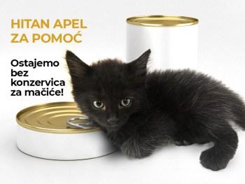 HITAN APEL ZA POMOĆ - konzerve za mačiće!