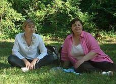 Pozsgai Nikoletta és Lenkey Dorottya tanítás közben