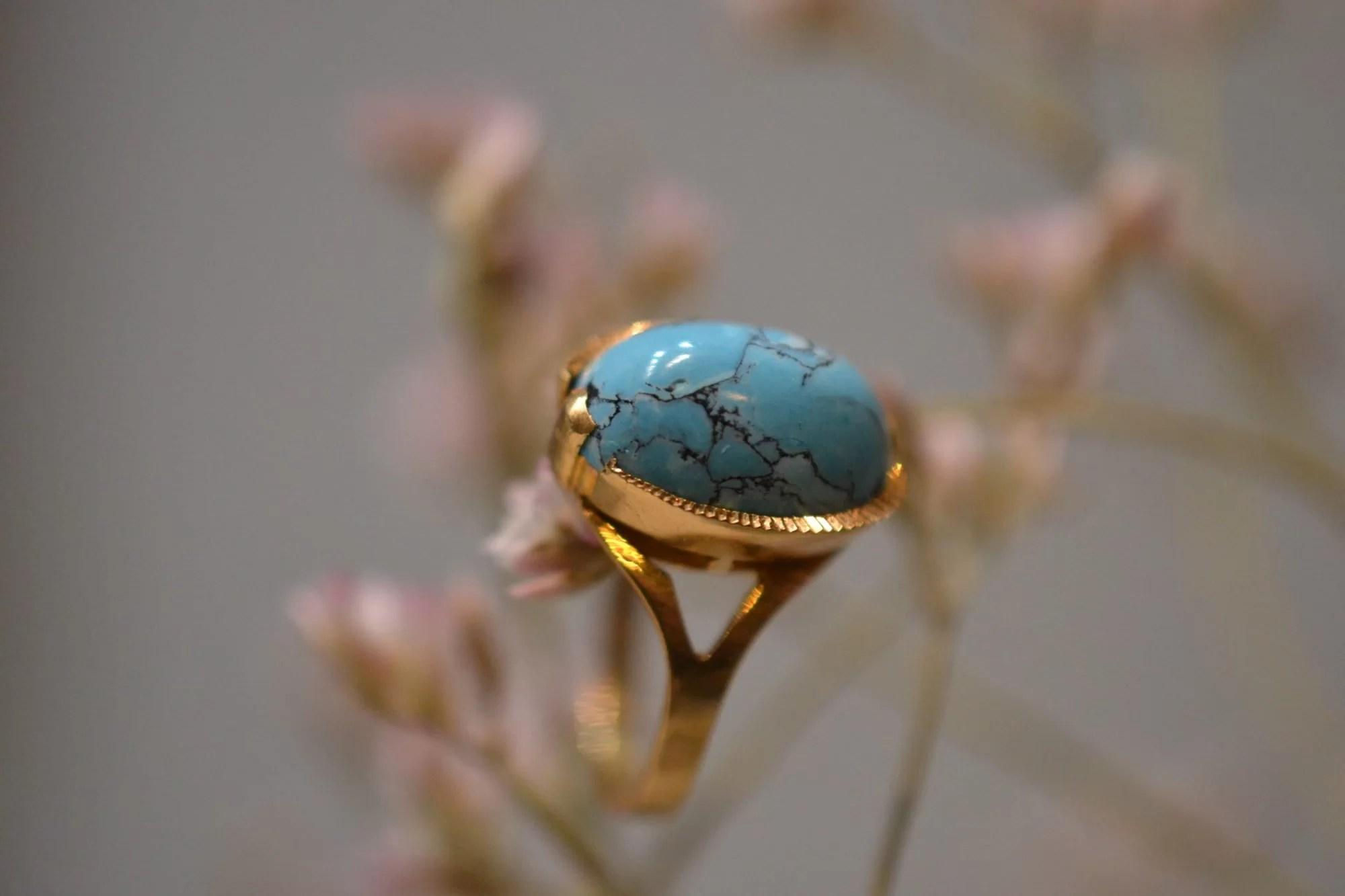 Bague Turquoise Veinée