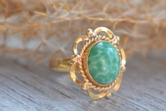 Bague Turquoise Verte