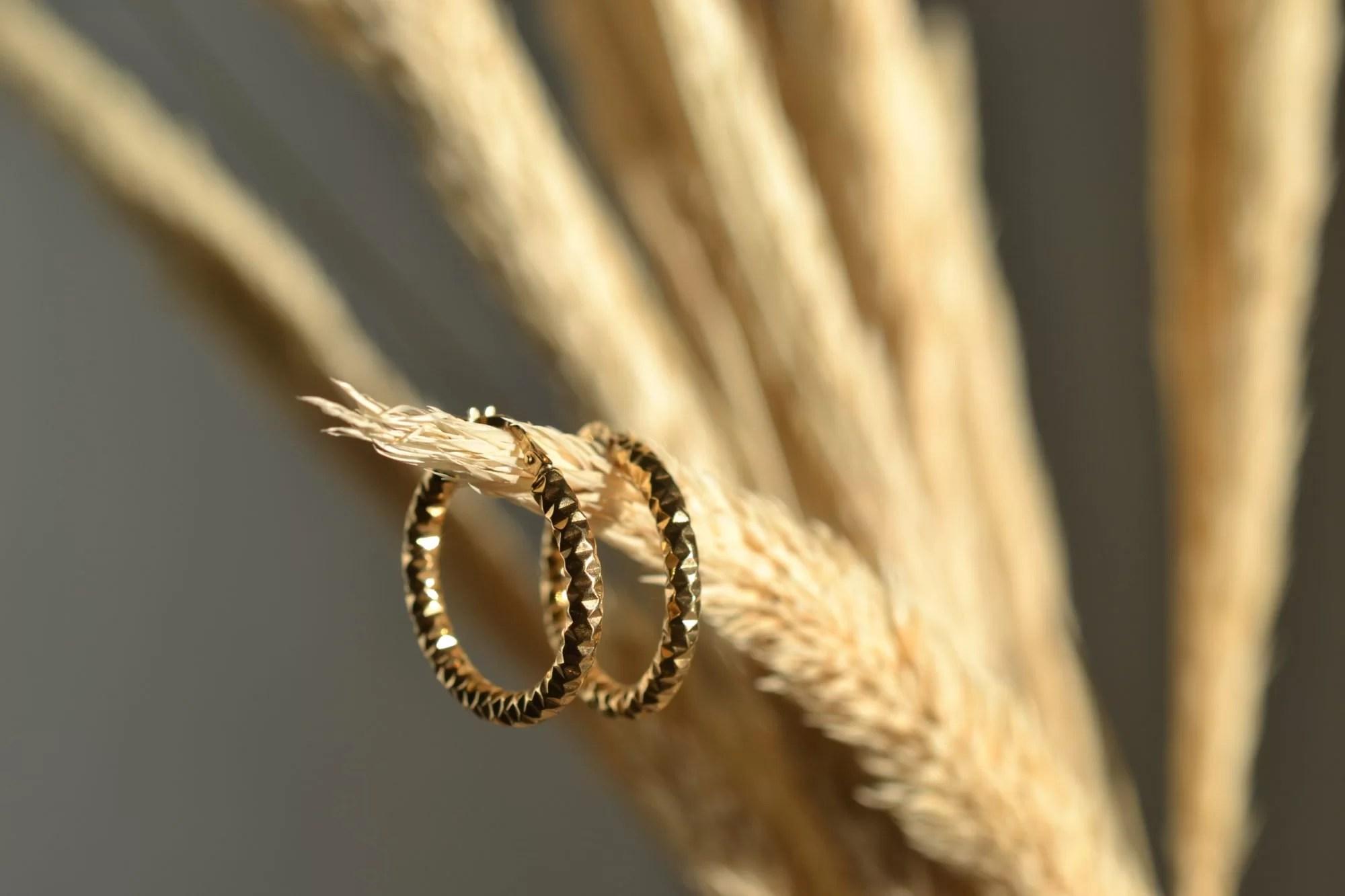 boucles d'oreilles en or massif occasion