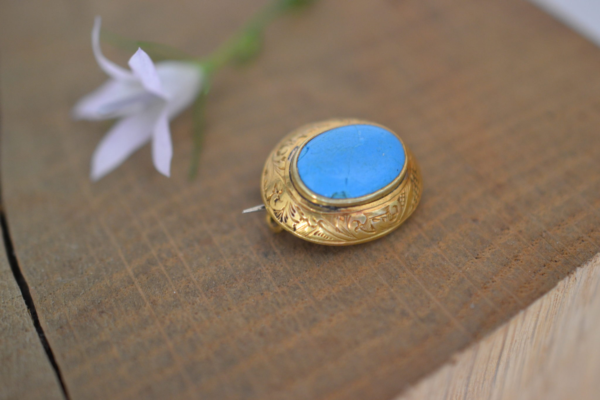 Broche Pierre Turquoise