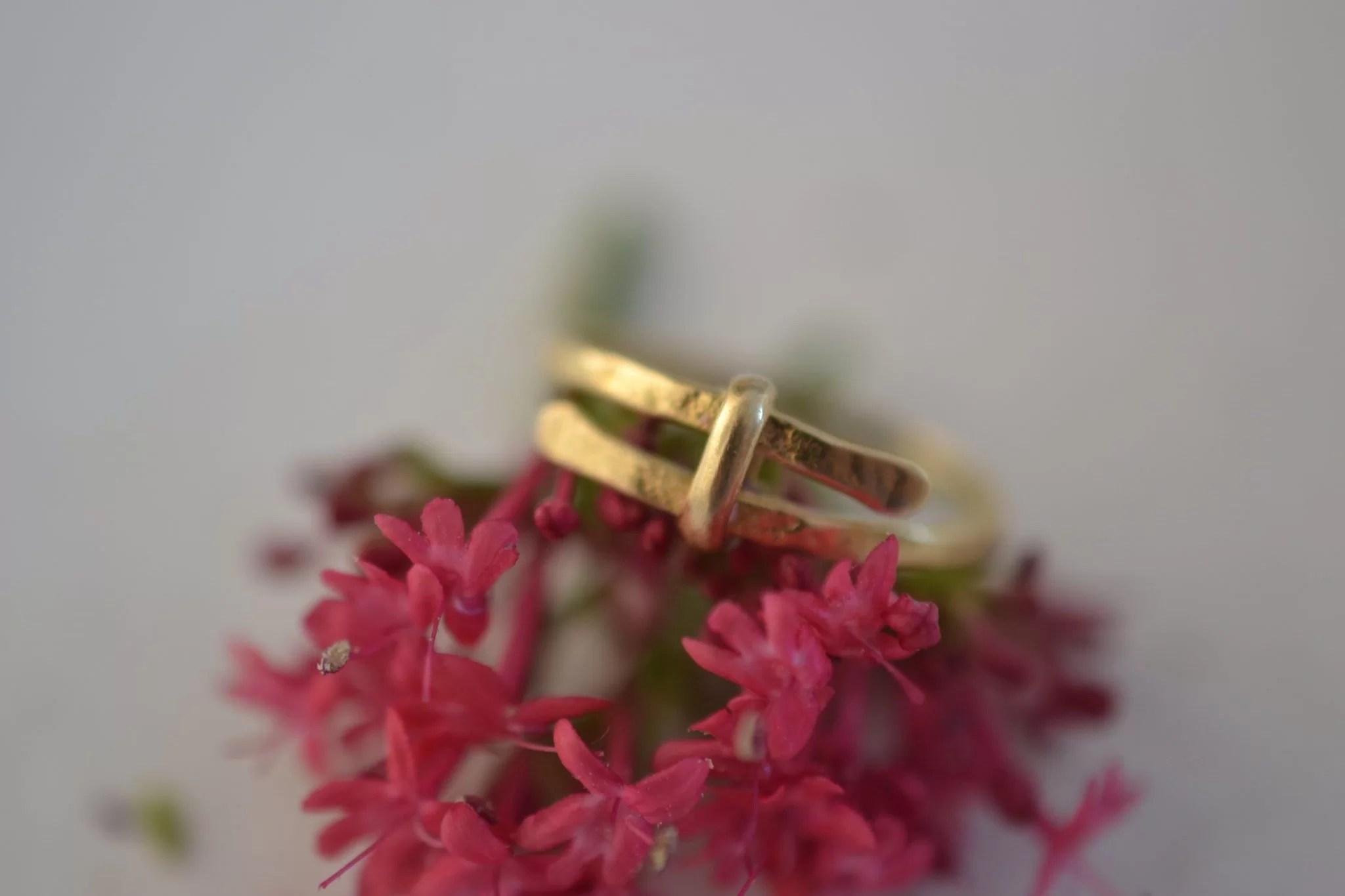 bague martlée en or - Bijou vintage certifé - 18 carats - bijoux seconde main
