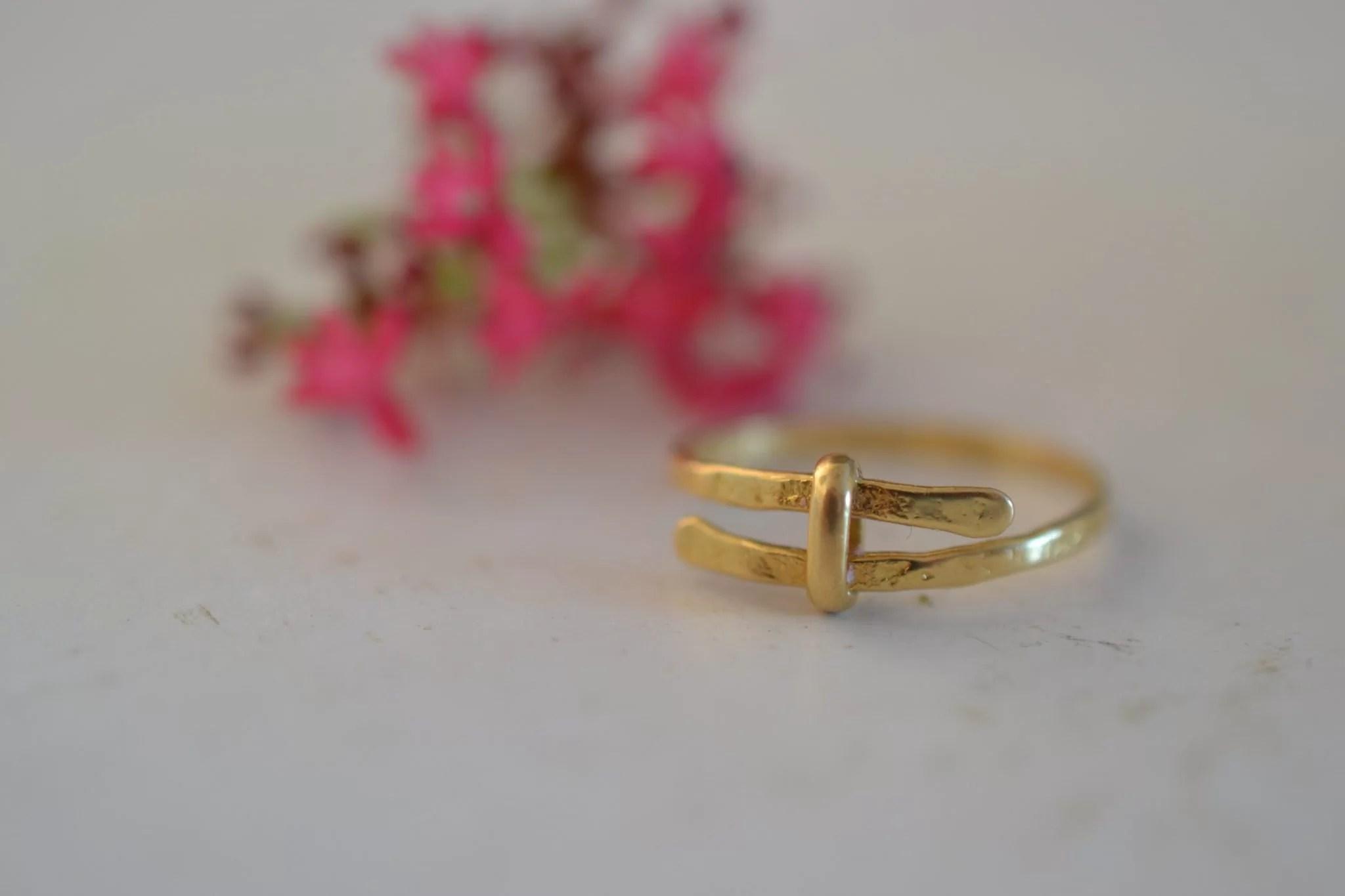 bague martlée en or - Bijou vintage certifé - 18 carats 750:1000 - bijoux seconde main