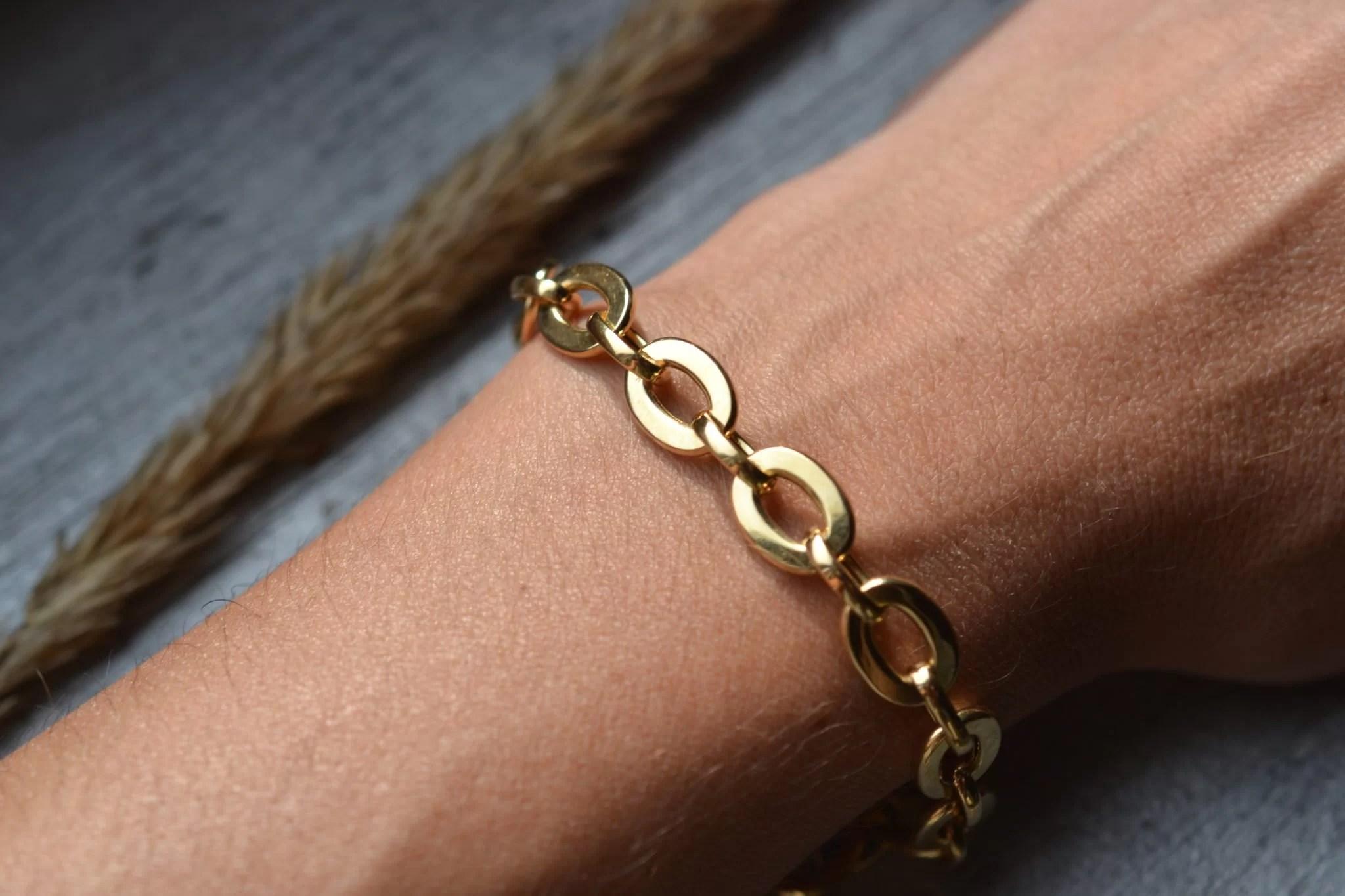 bracelet ancien maillons en Or 18 carats - bijoux ecoresponsables et anciens