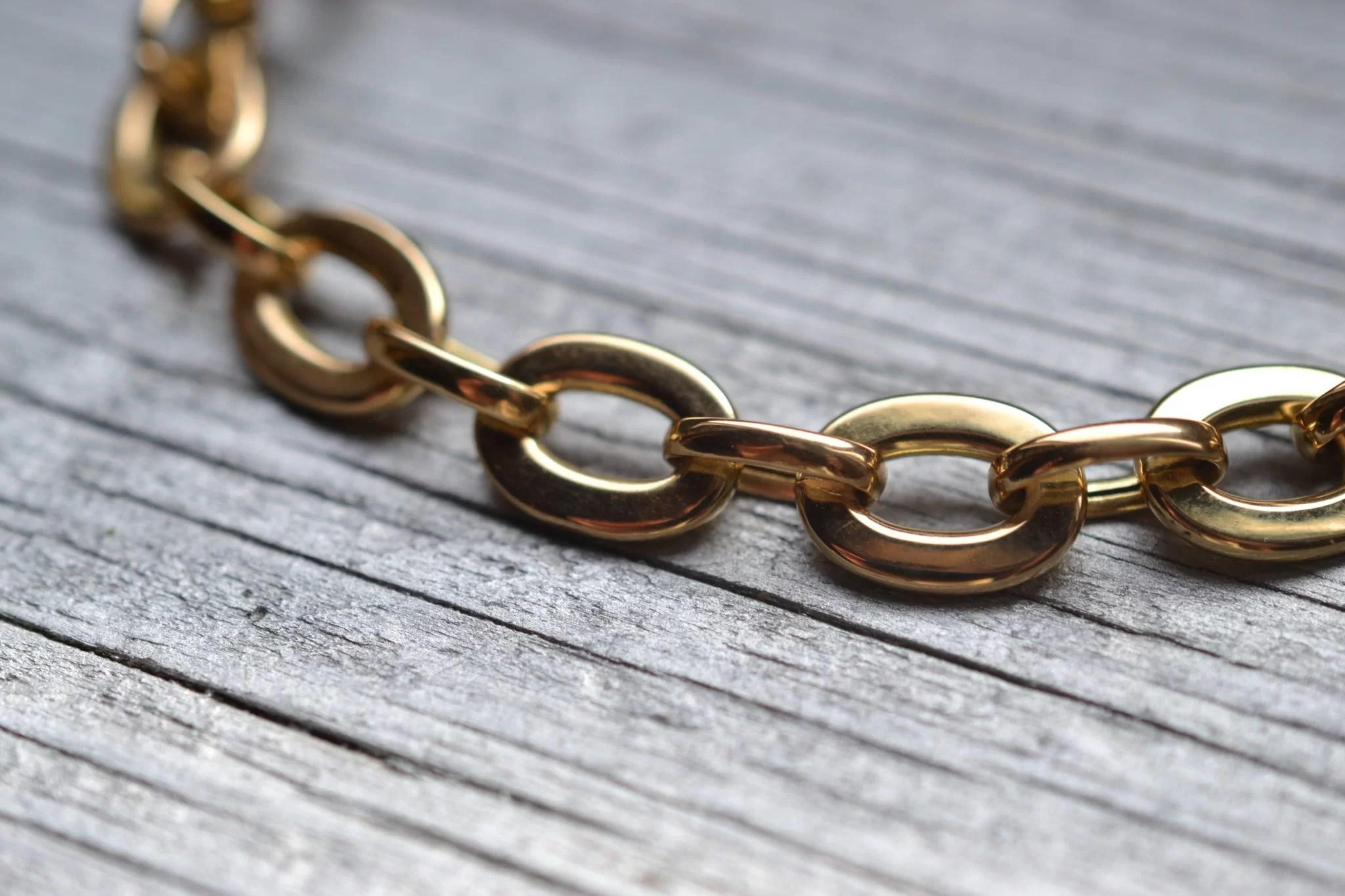 bracelet ancien maillons en Or 18 carats - bijoux ecoresponsables ethiques