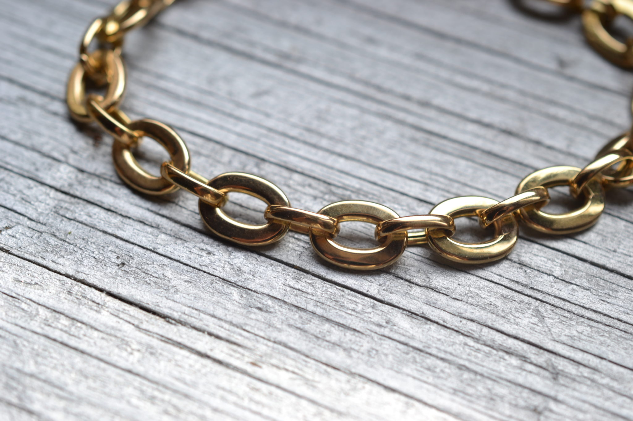 bracelet ancien maillons en Or 18 carats - bijoux ecoresponsables vintage