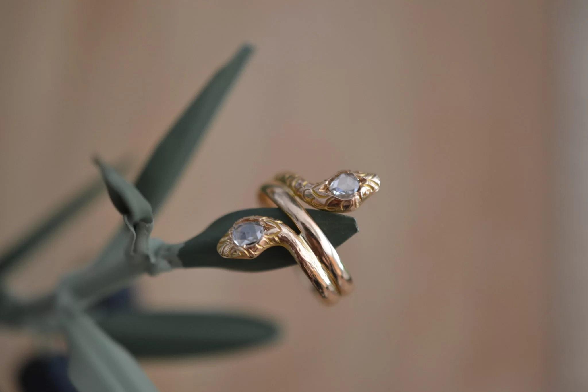 Bague Serpent Avec Diamants