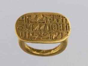 bague chevalière Egypte antique