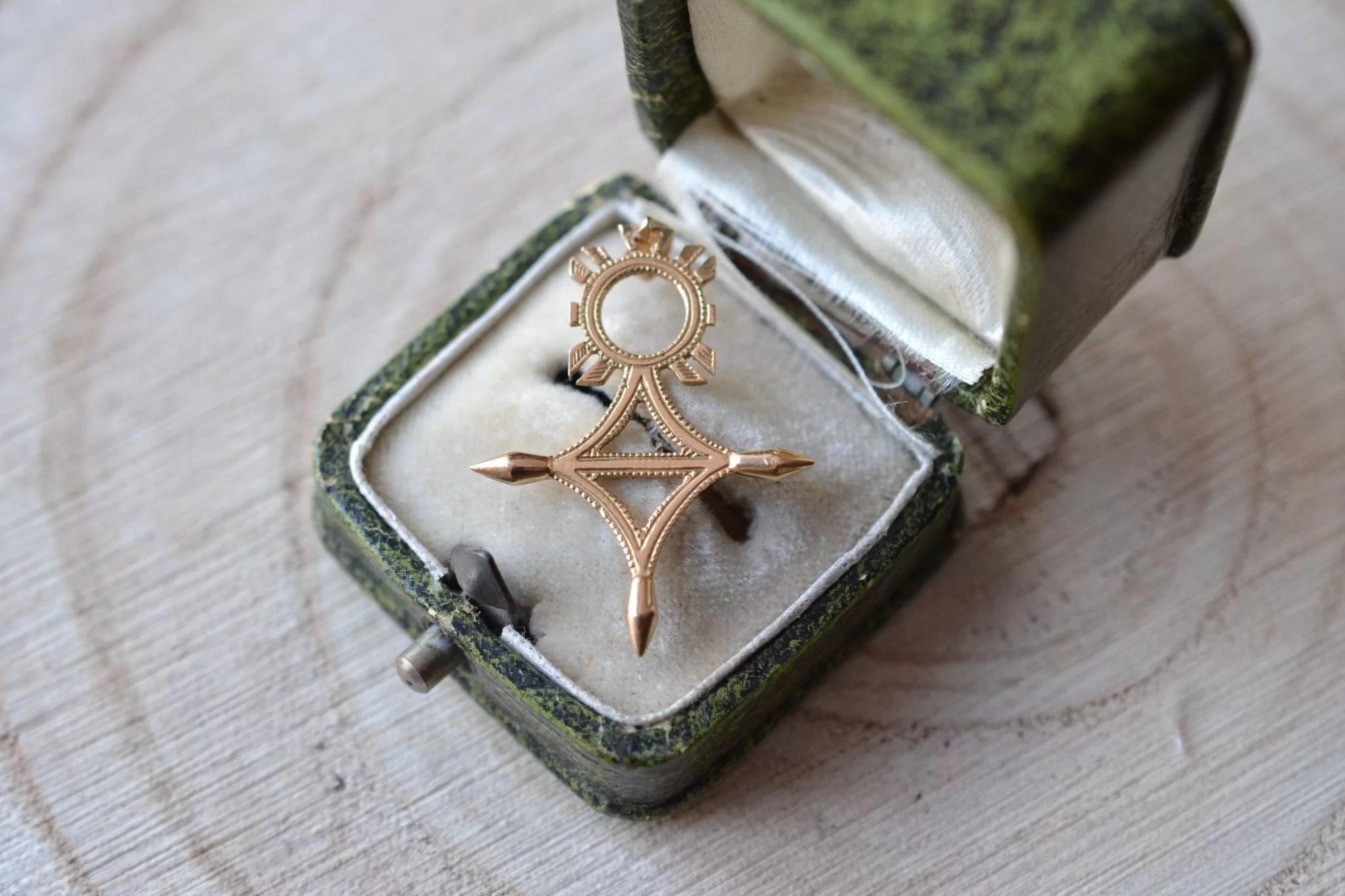 Pendentif Croix du Sud - bijou Vintage