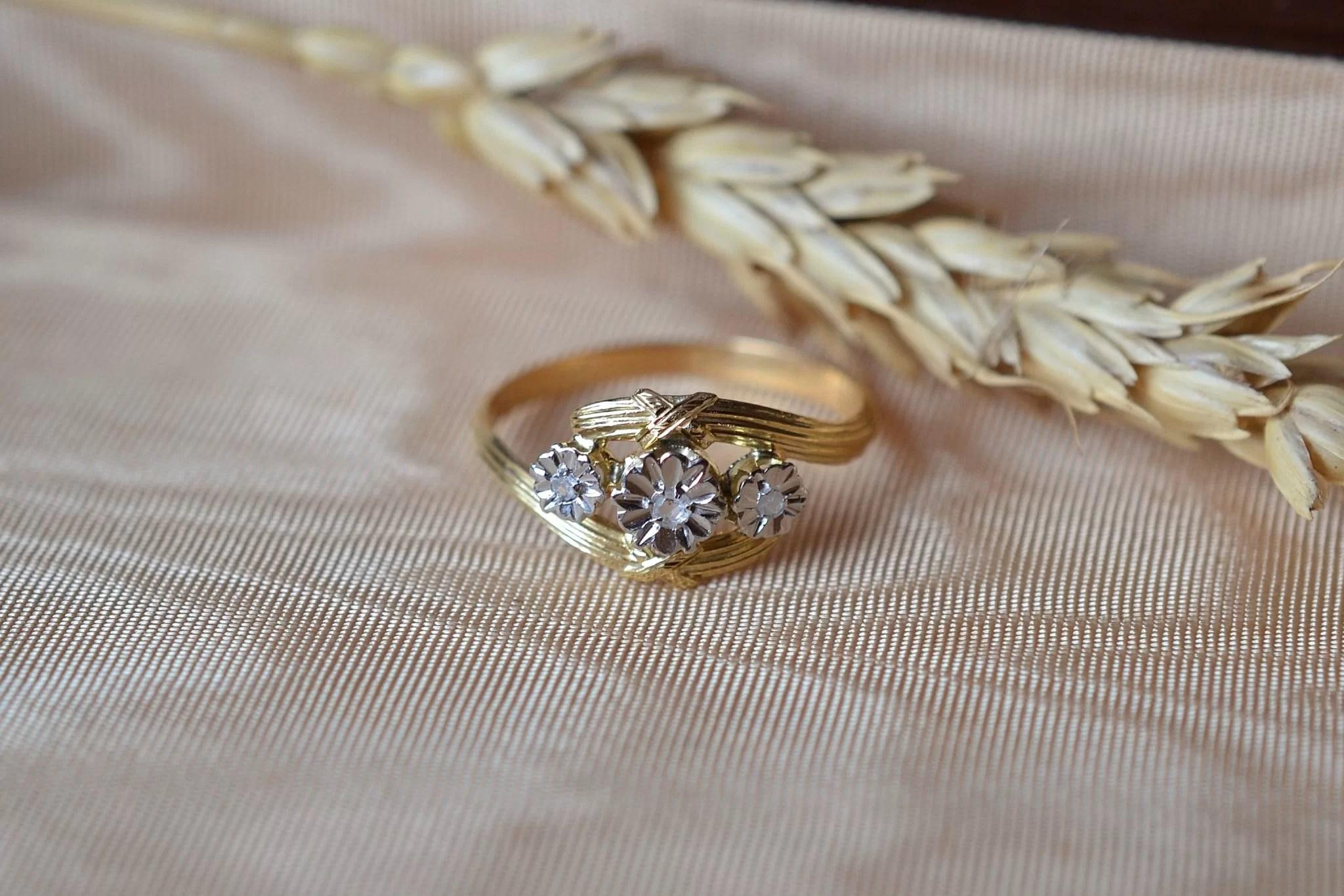 Bague Fleurettes 2 Tons Diamants
