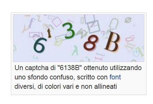 Esempio di Captcha numerico con differenti font