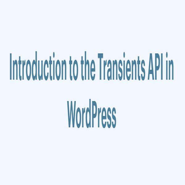 Transient API Worpdress