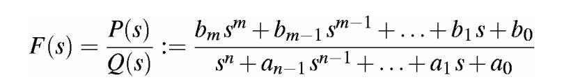 Funzione Razionale di trasferimento trasformata di Laplace