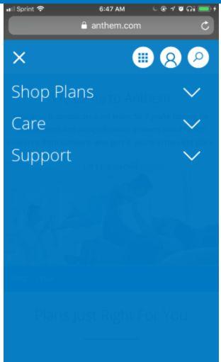 Esempio di menu di un sito web