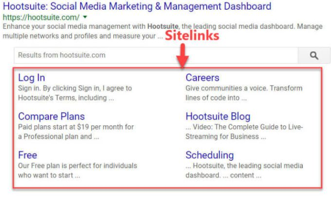 Cosa sono i sitelink e come vengono concessi da Google