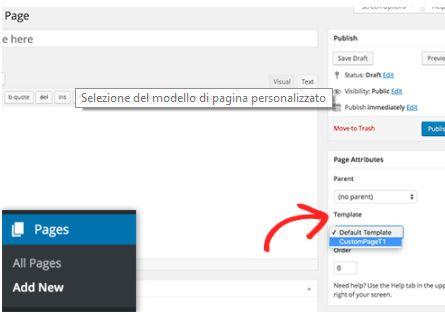 Creare una pagina personalizzata con WordPress