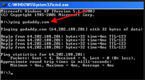 Calcolo del PIng da CMD Console di Windows