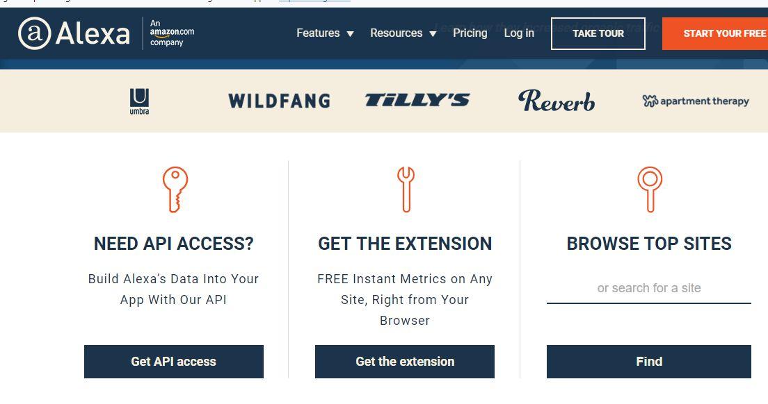Alexa analisi SEO siti Web Conccorrenti volume traffico di ricerca