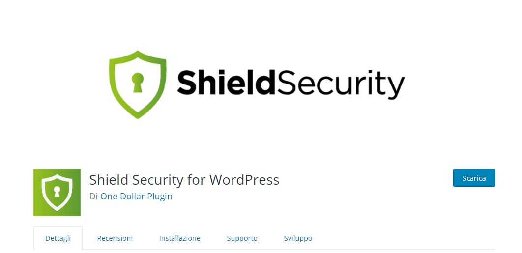 Sicurezza WordPress Shield Security